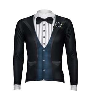 Long Sleeve Tuxedo Bike Jersey