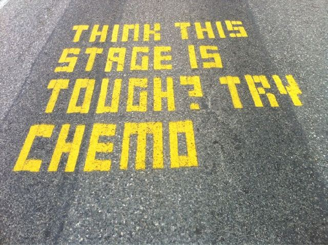 Think This Stage is Tough? Try Chemo